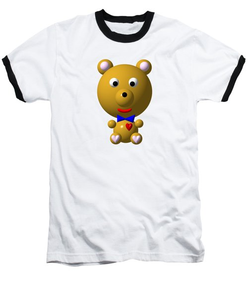 Cute Bear With Bow Tie Baseball T-Shirt by Rose Santuci-Sofranko