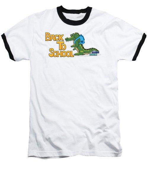 Cute Crocodile With Briefcase Baseball T-Shirt