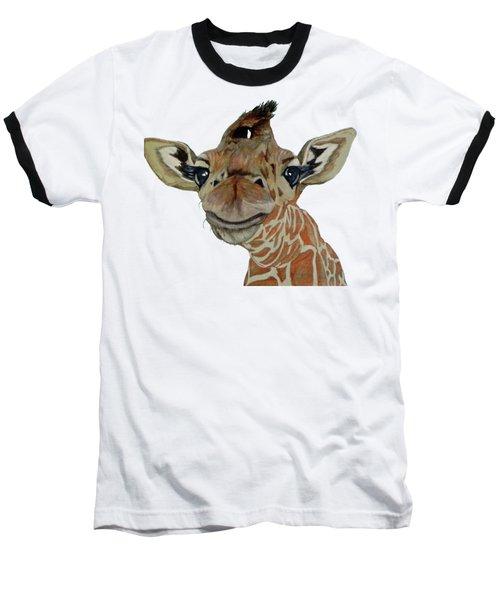 Cute Giraffe Baby Baseball T-Shirt by M Gilroy