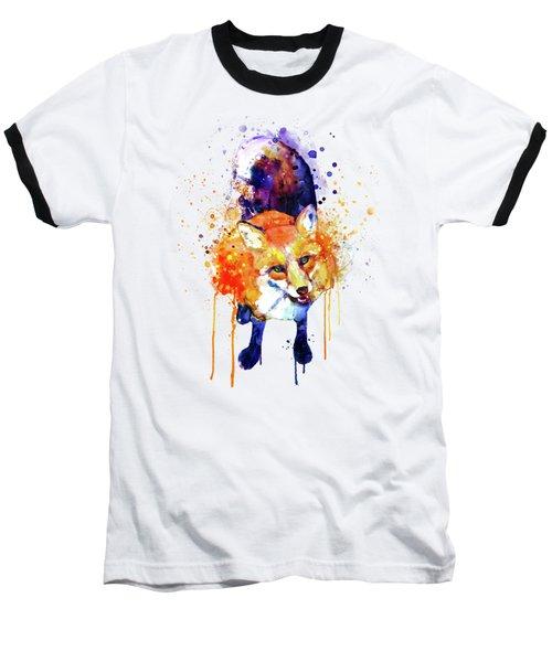 Cute Happy Fox Baseball T-Shirt