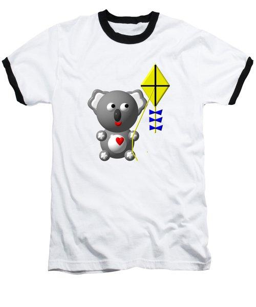 Cute Koala With Kite Baseball T-Shirt