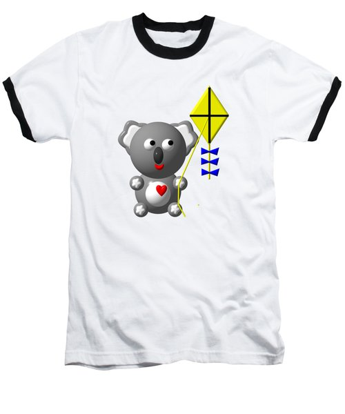 Baseball T-Shirt featuring the digital art Cute Koala With Kite by Rose Santuci-Sofranko