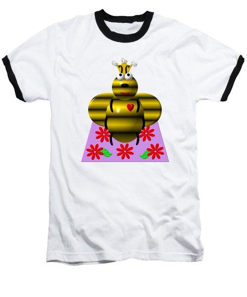 Cute Queen Bee On A Quilt Baseball T-Shirt