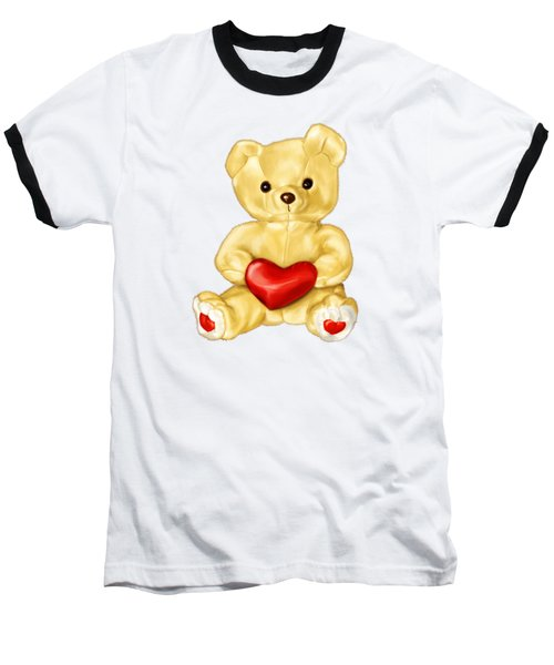 Cute Teddy Bear Hypnotist Baseball T-Shirt