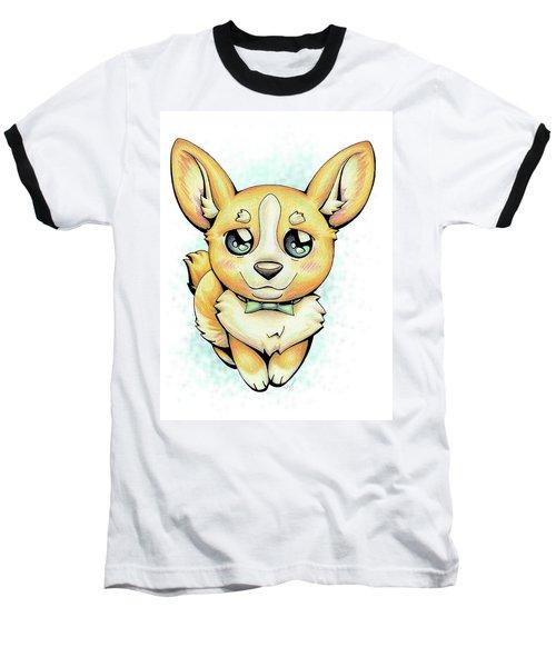 Cutie Corgi Baseball T-Shirt