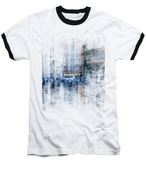 Cyber City Design Baseball T-Shirt
