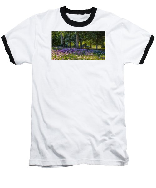 Cyclamen Under Trees Baseball T-Shirt