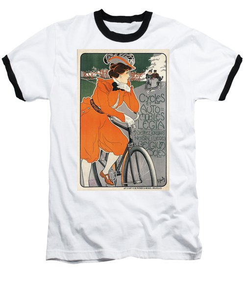 Cycles Et Automobiles Legia Poster 1898 Baseball T-Shirt