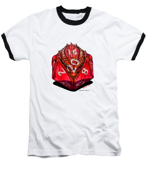 D20 Dragon T Shirt Baseball T-Shirt