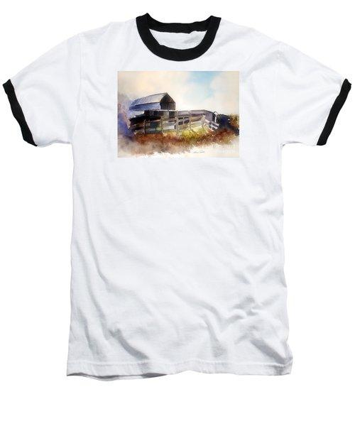 Baseball T-Shirt featuring the painting Dad' Farmhouse by Allison Ashton