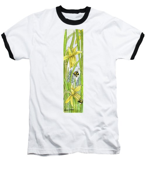 Daffodils And Bees Baseball T-Shirt