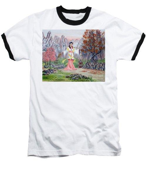 Baseball T-Shirt featuring the painting Dai Yuu by Anthony Lyon
