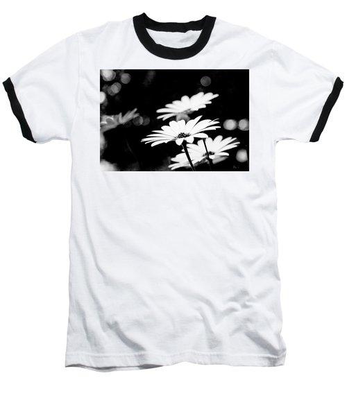 Daisies In Black And White Baseball T-Shirt