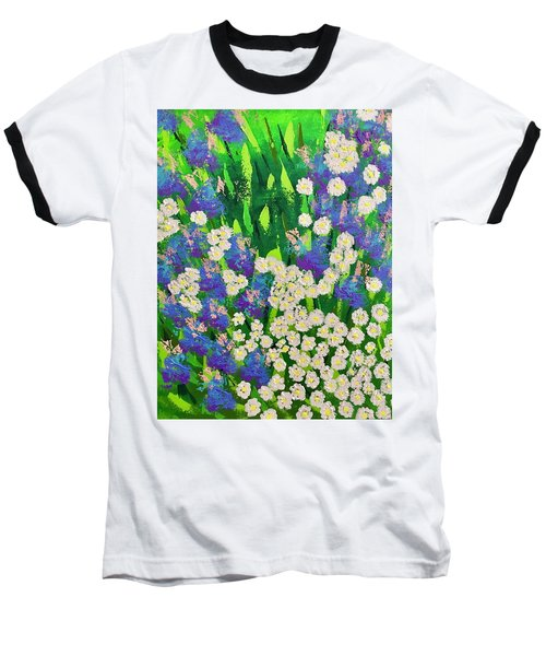 Daisy And Glads Baseball T-Shirt by George Riney