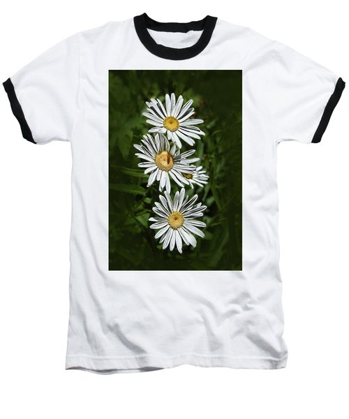 Baseball T-Shirt featuring the photograph Daisy Chain by Marie Leslie