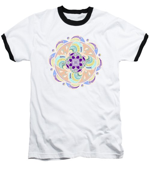 Daisy Lotus Meditation Baseball T-Shirt by Deborah Smith