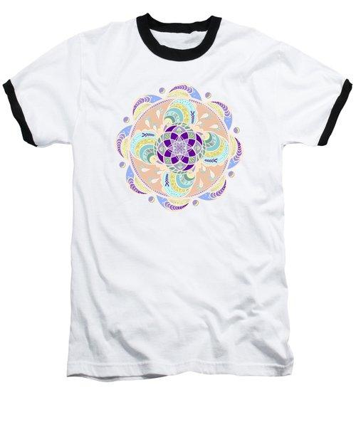 Daisy Lotus Meditation Baseball T-Shirt