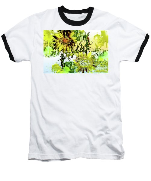 Sunflower On Water Baseball T-Shirt