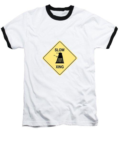 Dalek Crossing Baseball T-Shirt