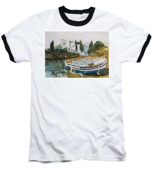 Baseball T-Shirt featuring the painting Dali House From Portlligat by Manuela Constantin