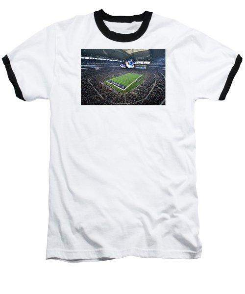 Dallas Cowboys Att Stadium Baseball T-Shirt
