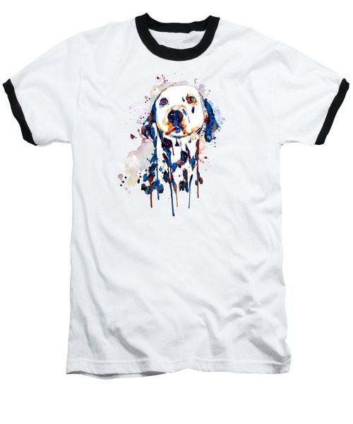 Dalmatian Head Baseball T-Shirt