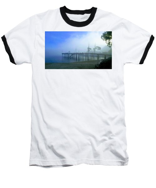 Dana Point Harbor When The Fog Rolls In Baseball T-Shirt