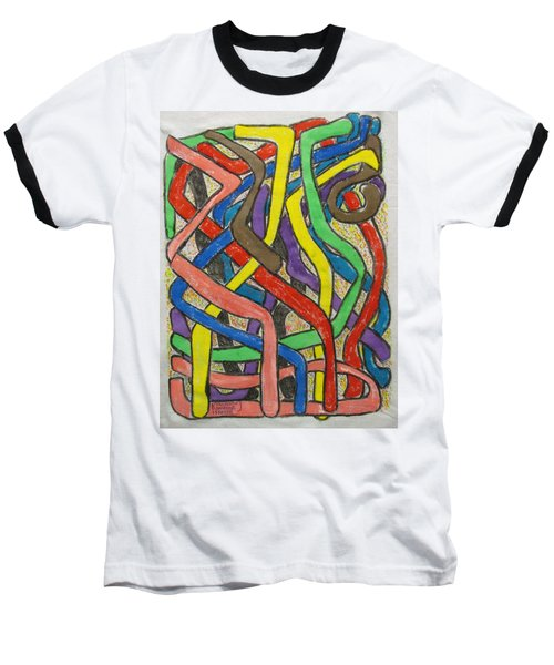 Baseball T-Shirt featuring the painting London Bus Routes by Mudiama Kammoh