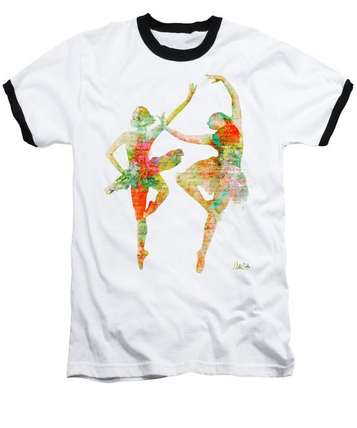 Baseball T-Shirt featuring the digital art Dance With Me by Nikki Smith