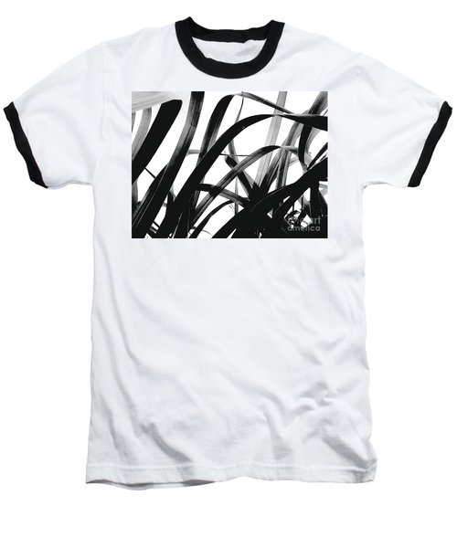 Baseball T-Shirt featuring the photograph Dancing Bamboo Black And White by Rebecca Harman