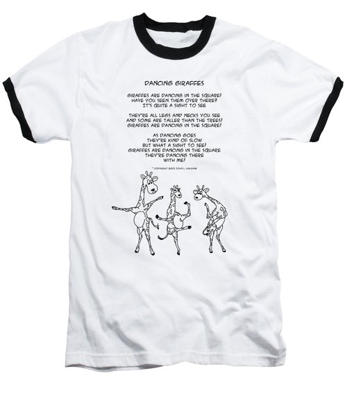 Dancing Giraffes Baseball T-Shirt