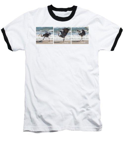 Dancing Heron Triptych Baseball T-Shirt