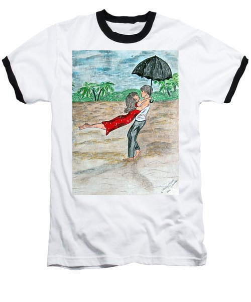 Dancing In The Rain On The Beach Baseball T-Shirt by Kathy Marrs Chandler