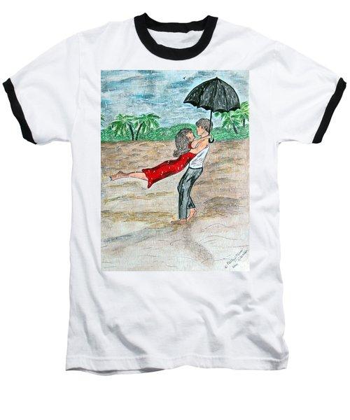 Dancing In The Rain On The Beach Baseball T-Shirt
