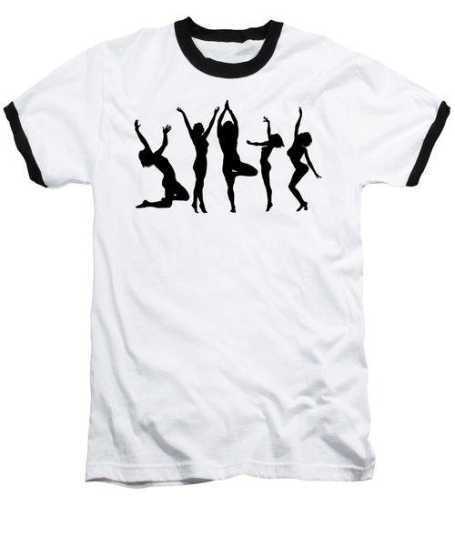 Dancing Silhouettes Baseball T-Shirt