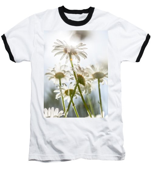 Dancing With Daisies Baseball T-Shirt by Aaron Aldrich