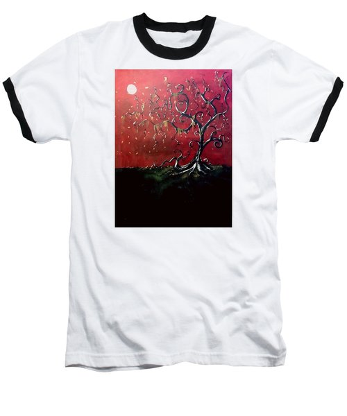 Dancing Wood Baseball T-Shirt