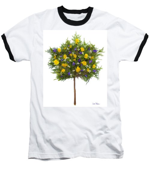 Baseball T-Shirt featuring the photograph Dandelion Violet Tree by Lise Winne