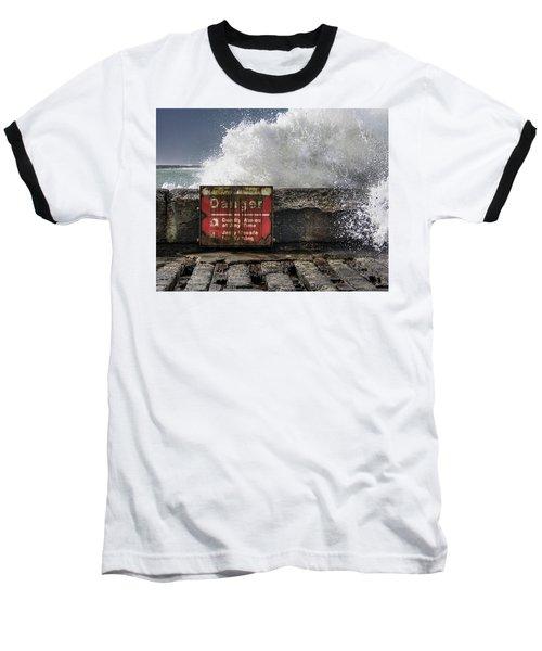 Danger Baseball T-Shirt by Greg Nyquist