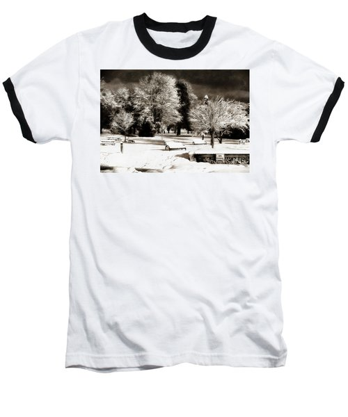 Dark Skies And Winter Park Baseball T-Shirt