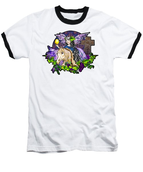 Dark Tales Of Fairy Eve And The Dragons Of Eden Baseball T-Shirt by Janice Moore