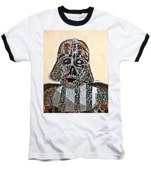 Baseball T-Shirt featuring the tapestry - textile Darth Vader Star Wars Afrofuturist Collection by Apanaki Temitayo M