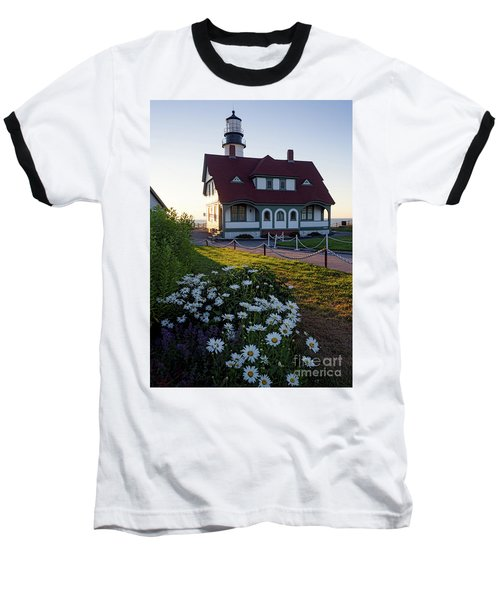 Dawn At Portland Head Light, Cape Elizabeth, Maine  -08614 Baseball T-Shirt by John Bald