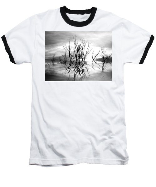 Baseball T-Shirt featuring the photograph Dead Trees Bw by Susan Kinney
