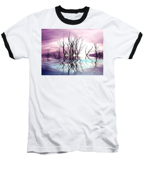 Baseball T-Shirt featuring the photograph Dead Trees Colored Version by Susan Kinney