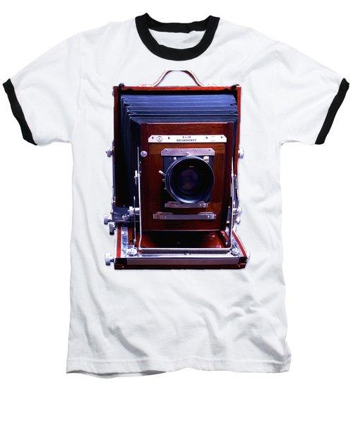 Deardorff 8x10 View Camera Baseball T-Shirt by Joseph Mosley