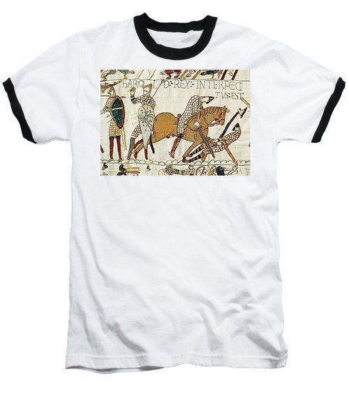 Death Of Harold, Bayeux Tapestry Baseball T-Shirt