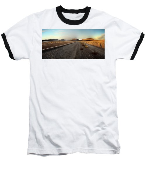 Death Valley Hitch Hiker Baseball T-Shirt by Gary Warnimont