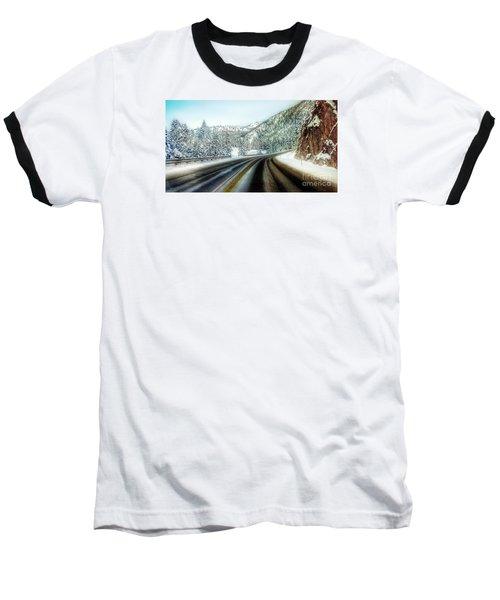 December Drive 4 Baseball T-Shirt by Janie Johnson