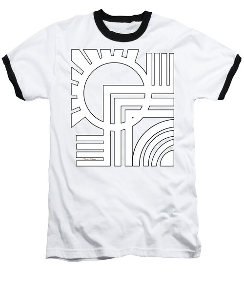Deco Design White Baseball T-Shirt